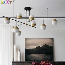 KAIT Nordic modern ceiling chandeliers lighting 110V 220V Round ball chandelier light