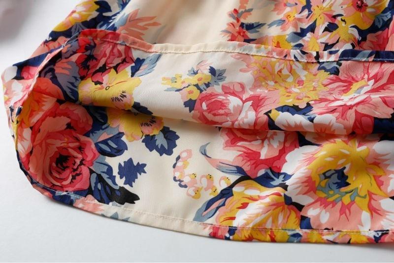 Sexy kobiety chiffon dress sundress plaża floral bez rękawów tank mini sukienki vestido 32