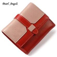 Pearl Angeli nieuwe portemonnee vrouwen portemonnee merk portemonnee portemonnee portemonnee portemonnee vrouwelijke korte portemonnee vrouwen echt lederen portemonnee