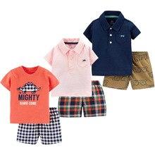 Kids clothes summer boys 2pcs Tshirt + pants toddler boys
