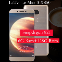 Original Letv LeEco RAM 6G ROM 64G le Max3 X850 FDD 4G Cell Phone 5.7 Inch 2560x1440 Snapdragon 821 PK X820 X900 mobile phone