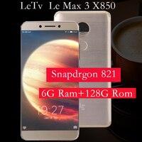 Original Letv LeEco RAM 6G ROM 64G Le Max3 X850 FDD 4G Cell Phone 5 7