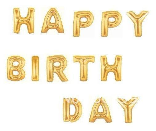 line Shop Free Shipping HAPPY BIRTHDAY 40 Inch Gold Foil