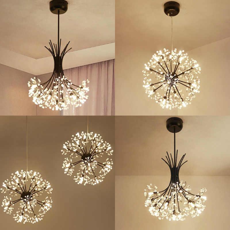 """Современный светодиодный напольный светильник для спальни, светодиодный подвесной светильник, 1-32 головки, много типов серебряных G4 Светодиодный светильник """"Одуванчик"""""""