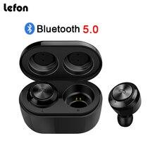 Lefon Bluetooth Earphone TWS Wireless Bluetooth Earphones Portable Earpods Dual