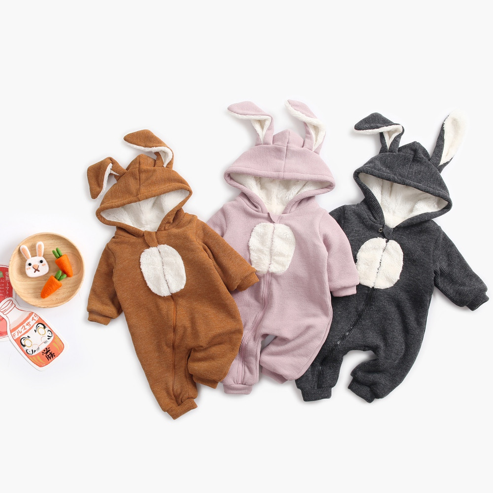 2019 baby clothes newborn jumpsuit kids costume for baby boy Rabbit Hooded baby girl rompers long sleeve animal baby onsie