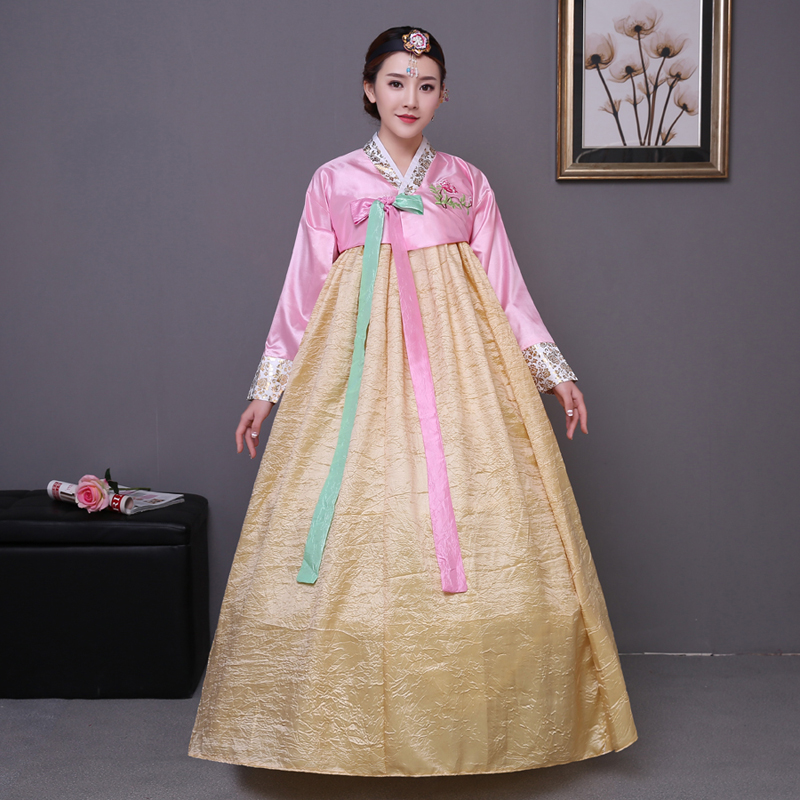 Hot Sale 2016 Korean Tradition Women Hanbok Women National Clothes Long Sleeve Female Korean