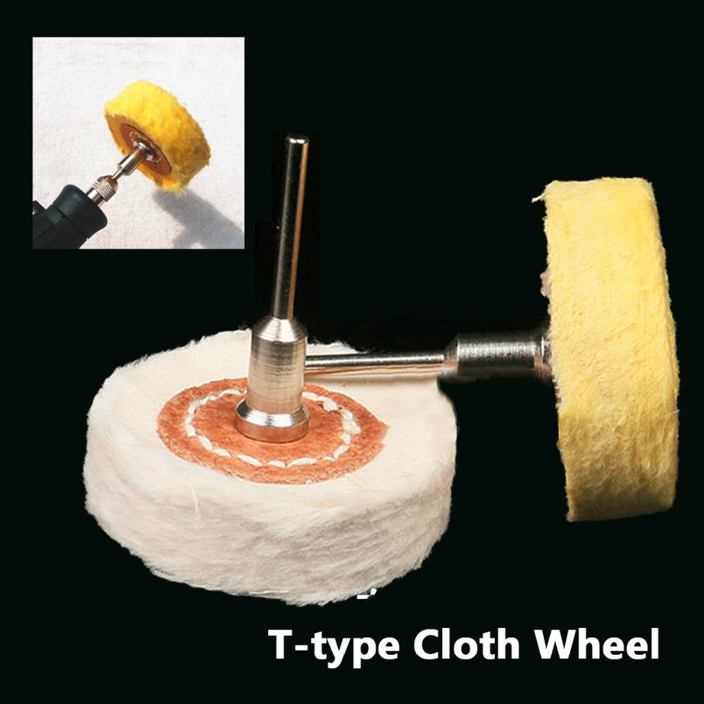 Grinder Brush T Style Polish Buffing Wheel Grinding Head Cloth Dremel Wheel For Rotary Abrasive Tools Dremel Accessories Shank