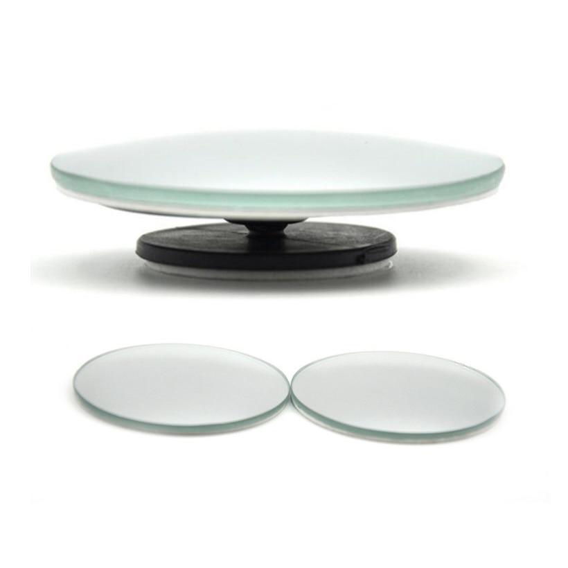 Espelho convexo para retrovisor, espelho para ponto cego, ultrafino, grande angular, 360 graus, sem armação, alta qualidade, 1 par