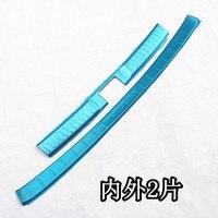 2PCS SET Accessories Stainless Steel Rear Bumper Protector Sill Trunk Tread Plate Trim For Suzuki Vitara