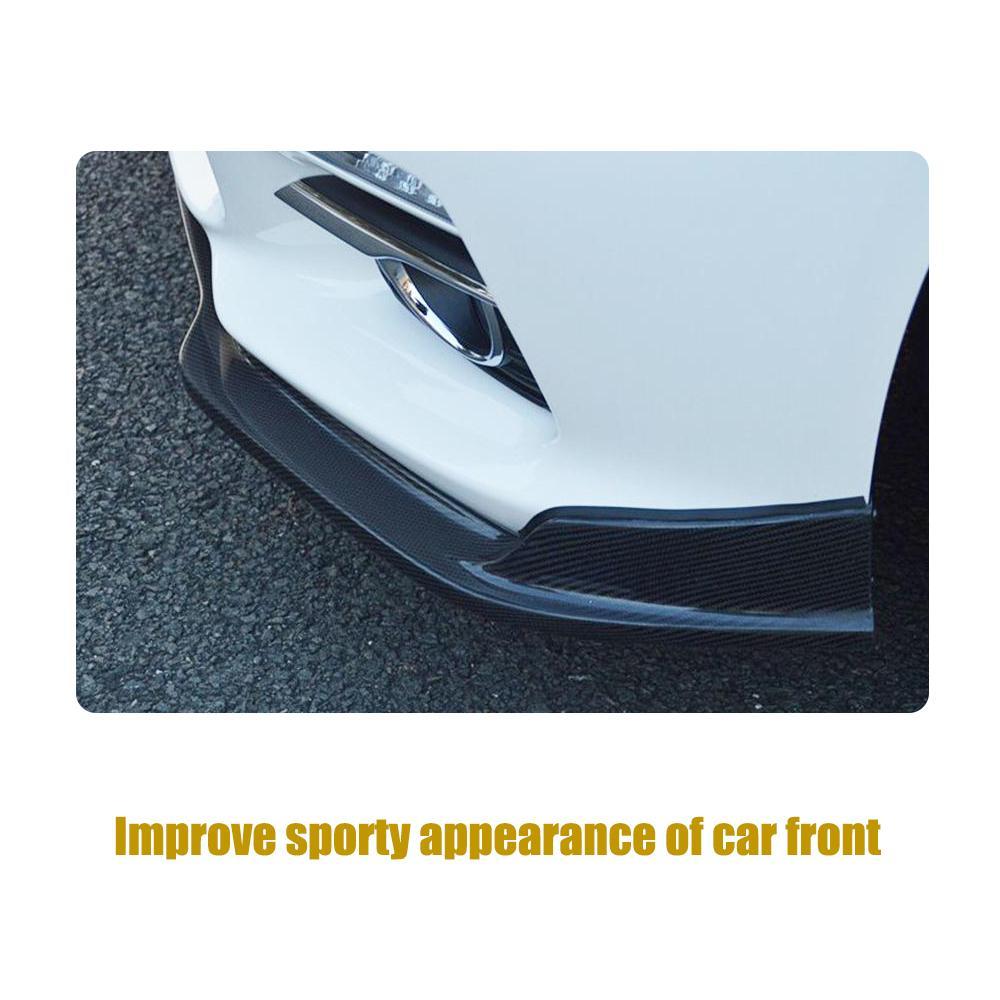 Углеродное волокно передний бампер спойлер сплиттеры для Infiniti Q50 стандартный бампер только 2013