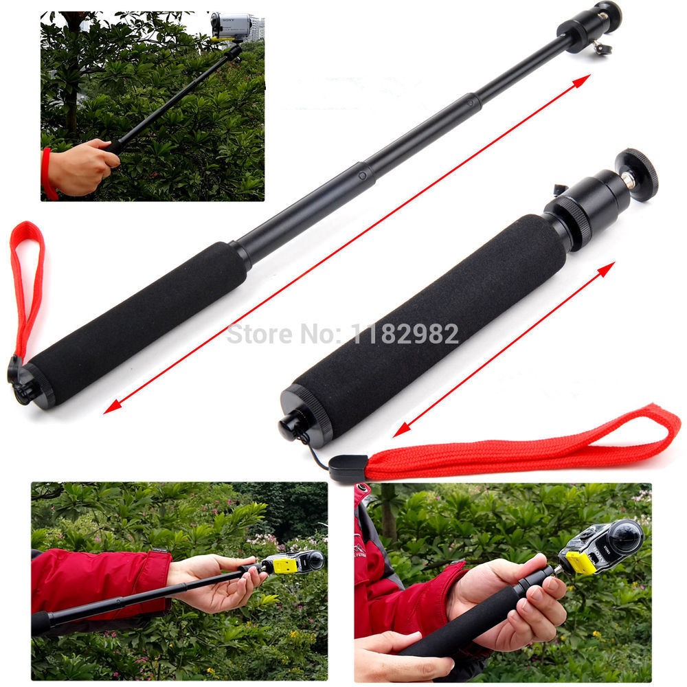 Action Cameras Monopod Tripod Waterproof Handheld Monopod Selfie for SONY Cam HDR AS20 AS15 AS100V AS30V