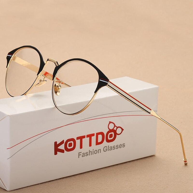∞KOTTDO Metal marco óptico marca gafas mujeres hombres gafas ...