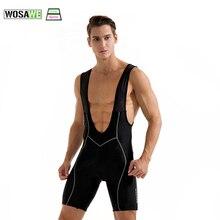 Clothing Cycling Braces-Pants Shorts Bicycle-Straps Bike-Bib 3D Riding Men WOSAWE Padded