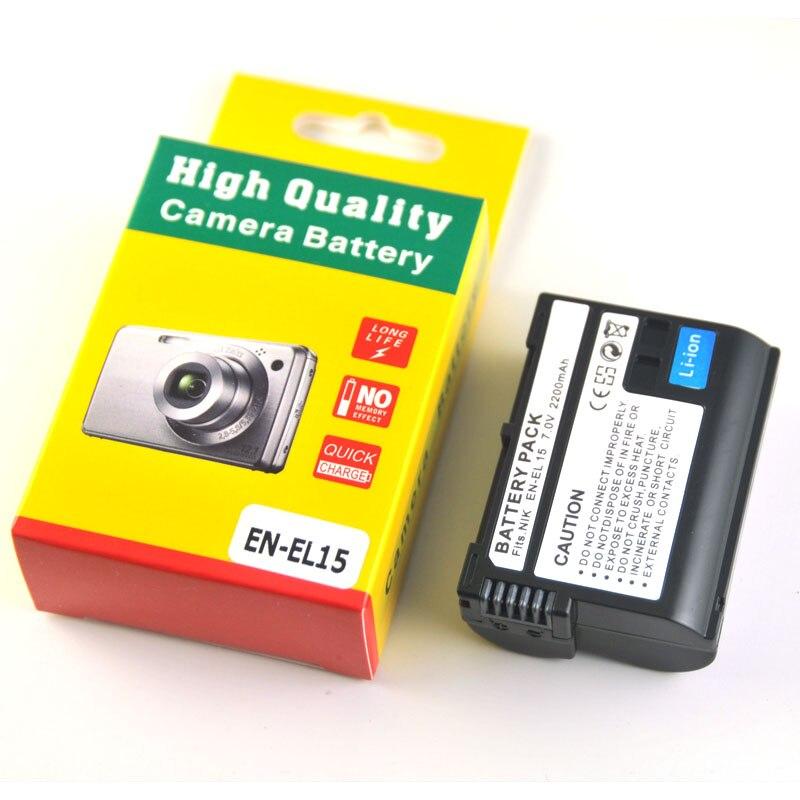 EN-EL15 EN-EL15a es EL15 ENEL15 Cámara Paquete de batería para Nikon D600 D610 D600E D800 D800E D810 D7000 D7100 d750 V1 MH-25