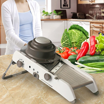 Household multi-function cutting stainless steel kitchen potato shred slicer cutting machine grater wiping artifact LO1123348