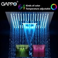 GAPPO насадки для душа воды питание Led осадков 400 мм * 400 душ Квадратной Формы Набор кран для ванной смеситель водопад ванная комната