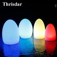 Thrisdar IP68 Waterproof Egg Shape Led Night Light 16 Color USB Rechargeable RGB Led Table Lamp