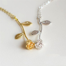 Buy dropship personalized gifts and get free shipping on aliexpress fashion necklace women 2018 gold silver rose pendant necklace anniversary personalized gift dropshipping jun2018 negle Images