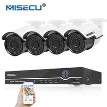 MISECU 1080 P HDMI 8CH NVR KIT POE 48 v POE 2.0MP real P2P Onvif IP Cámara de Visión Nocturna Impermeable DEL IR CCTV 4 unids de Vigilancia cctv