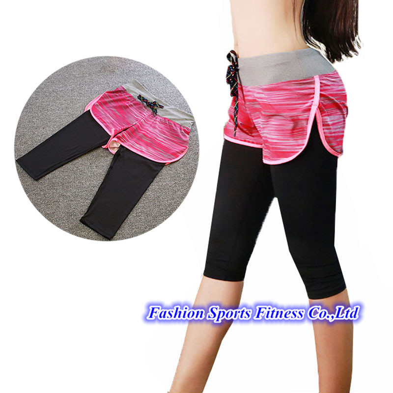 2016 Women Gym Fitness Yoga Shorts With Leggings For