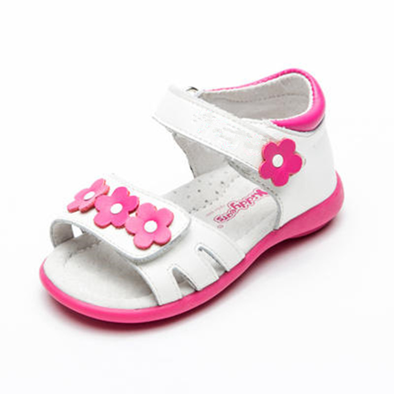 2018 new Kids Baby Soft Sole Shoes Super Quality 1pair white girl Orthopedic Genuine Leather NEW Children Sandals