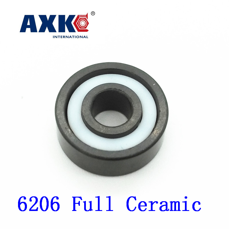 Axk 6206 Full Ceramic Bearing ( 1 Pc )30*62*16 Mm Si3n4 Material 6206ce All Silicon Nitride Ceramic Ball Bearings 60mm bearings 6212 full ceramic si3n4 60mmx110mmx22mm full si3n4 ceramic ball bearing