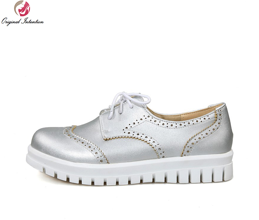 Original Intention Elegant Women Casual Shoes Beautiful Round Toe High-quality White Pink Silver Shoes Woman US Size 3.5-10.5 high quality wedding dress doll 45cm 55cm beautiful elegant pink feather dhl or fedex