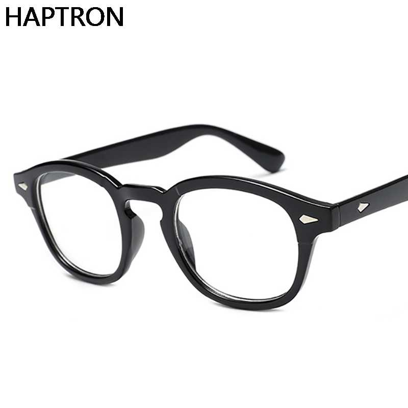 47c7e6538d ... Classic Clear Glasses Frame Men Flat Women Optical Spectacle Frame  Clear lens Johnny Depp Style Square ...