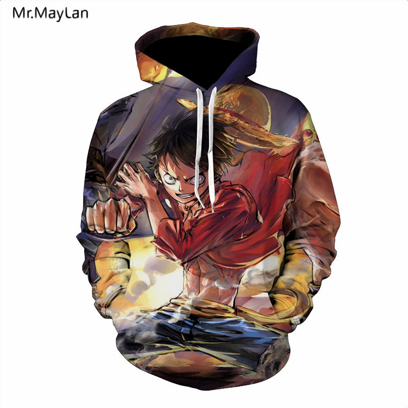 Japan Classic Anime One Piece 3D Print Luffy Hoodies Män Dam - Herrkläder - Foto 6