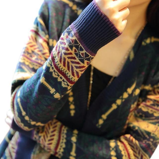 Otoño Invierno de Algodón de Moda Con Cuello En V Mujeres Casual Suéter de Punto Mujer de Manga Larga Outwear Jacket Tops Cardigan Mujer Oc28