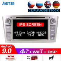 64G RAM Android 10 Auto Radio GPS Multimedia Stereo DVD Player Für Toyota Avensis T25 2003-2008 Auto audio WIFI Video Navigation