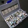 10 Valores 90 pcs Kit Sortido Capacitor Sólido 2.5 V ~ 16 V 100 uF ~ 1500 uF Com Caixa Componentes Eletrônicos de capacitores 13x6.5x2.2 cm