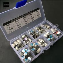 10 Valores 90 unids Solid Capacitor Surtido Kit 2.5 V ~ 16 V 100 uF ~ 1500 uF Con Caja Componentes Electrónicos condensadores 13×6.5×2.2 cm