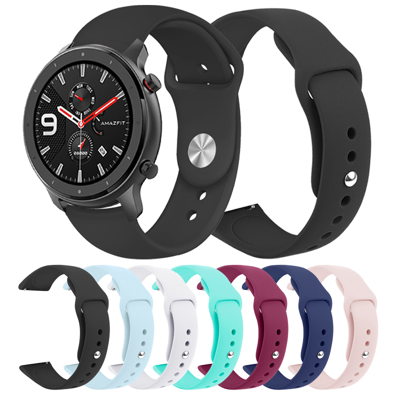 Sports Silicone Wrist Strap For Xiaomi Huami Amazfit GTR 47mm 42mm Bracelet Band For Huami Amazfit Watch Replacement Watchband