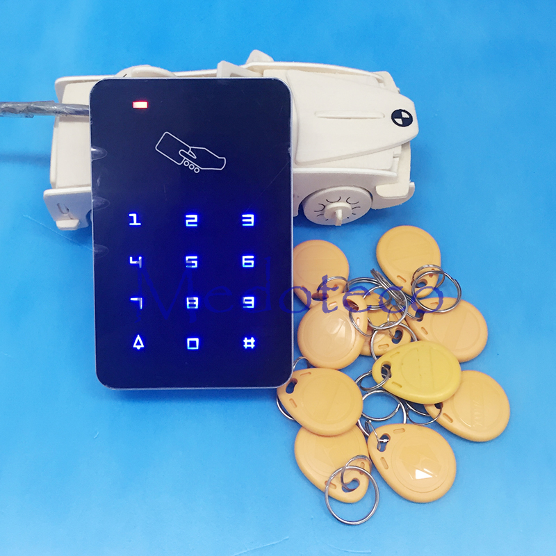 Free shipping+10 rfid tag+RFID Proximity Card Access Control System RFID/EM Keypad Card Access Control Door Opener touch keypad