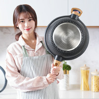 non stick frying pan Household multi function flat bottom electromagnetic oven gas stove suitable cooking wok pan