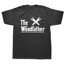 Sommer Mode Die Woodfather Carpenter Arbeiter Vatertag T Hemd Männer Kurzarm Baumwolle Casual T-shirts(China)
