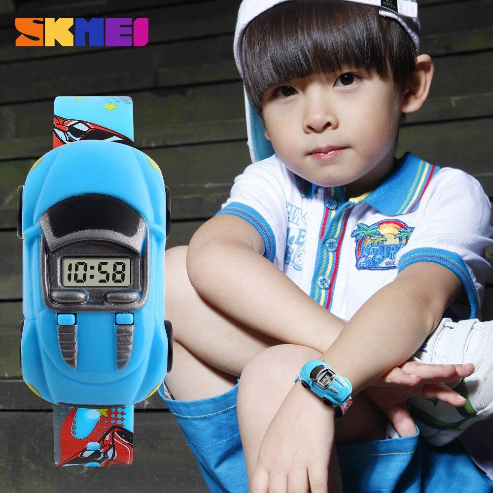 New Skmei Kids Children Watches Brand Fashion Creative Digital Sport Kid Watch Cartoon Car Wristwatches Children Wrist Watch