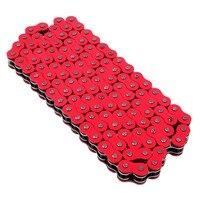 אוניברסלי אדום 520x120 קישורים שרשרת כונן אופנוע טרקטורונים O-ring 520-Pitch 120-Links