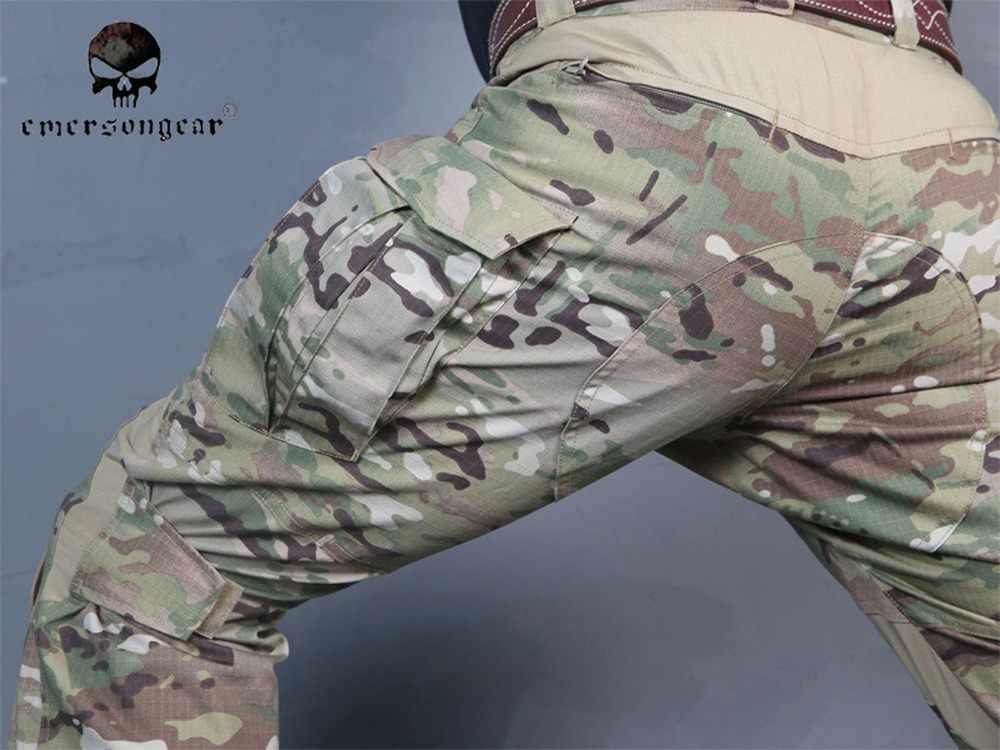 Airsoft Bdu Gen3 Seragam Tempur Emerson Taktis Kemeja & Celana Bantalan Lutut MultiCam EM8567 EM8527