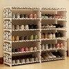 Double Row Six Layer Simple Shoe Cabinet DIY Books Toys Storage Shelf Multi Purpose Organizer Locker