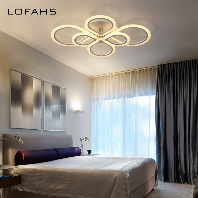 LOFAHS Modern LED ceiling lights for living dining room bedroom with remote control Plexiglass Chinese knot ceiling lamp fixture noosion modern led ceiling lamp for bedroom room black and white color with crystal plafon techo iluminacion lustre de plafond