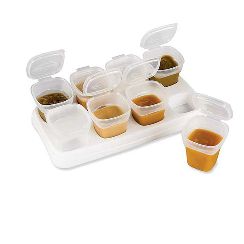 Tableware Accessories 8 Piece Baby Block Set Baby Food Containers Food preservation box safety Baby food supplement box JY