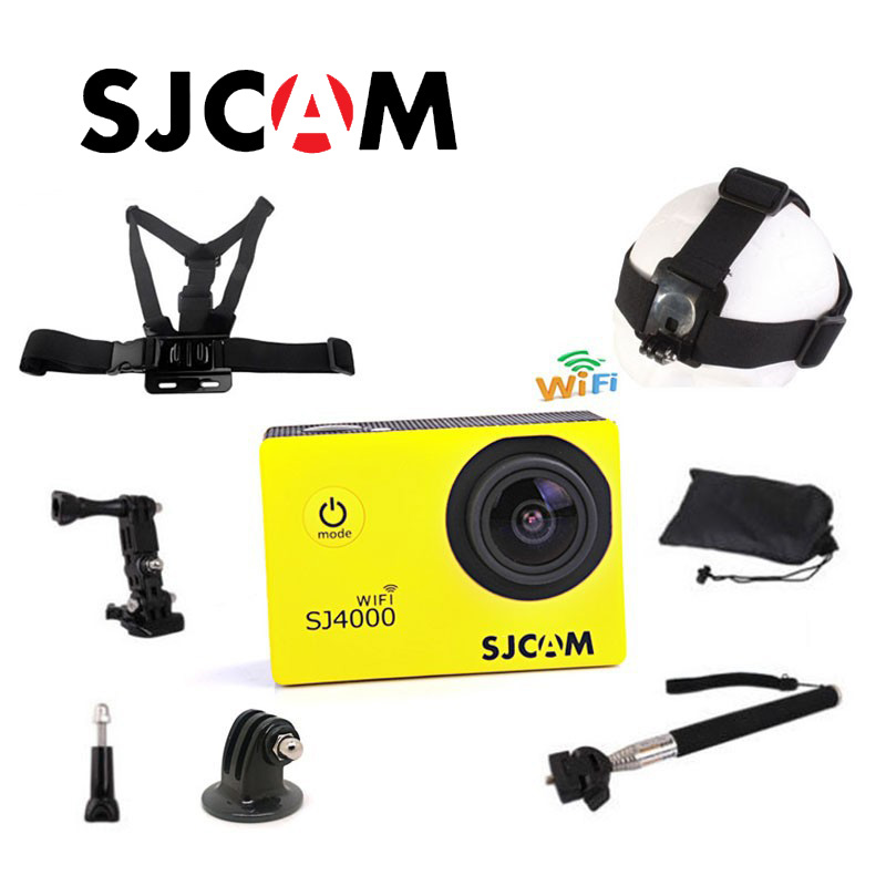 Free shipping!!Original SJ4000 WIFI SJCAM Diving 30M Waterproof Sport Action Cam+Strap Harness Adjustable Elastic Chest Belt