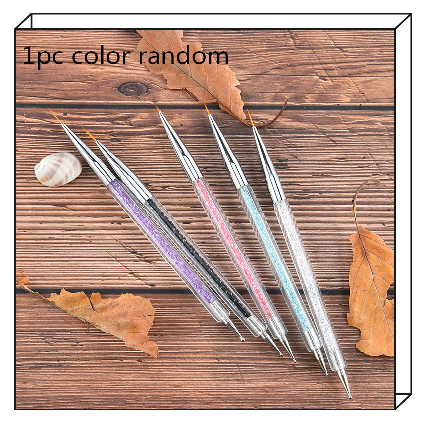 1Pc Rhinestones Picker line Pen Nail Art Wax Pencil Picker Pen Gems Beads Sequins Pick Up Dotting Self-adhesive Line Pens image
