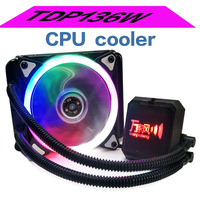 Liquid Ice Water Cooler for Cooling Systems Processor Cooler PC Computer Cooling Fluid Bearing 120mm Fan Blue LED Light