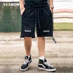 Viishow men shorts summer 2017 solid leisure men shorts casual letter shorts pantalones men knee length.jpg 250x250