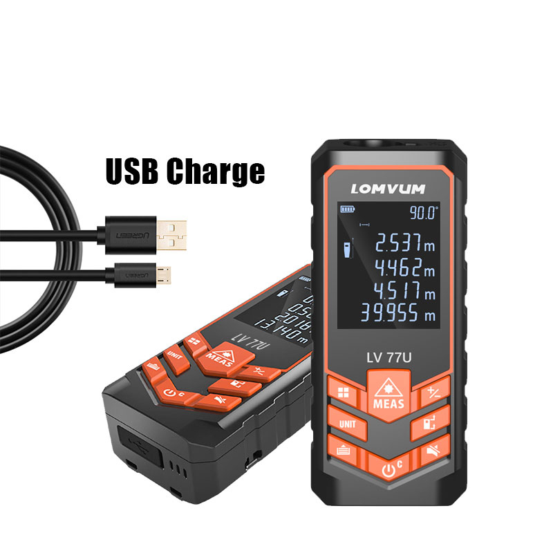 LOMVUM LV 66U/77U Handhold Laser Rangefinder Digital Laser Distance Meter Electrical Level Tape Laser Measurement