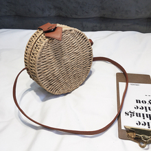 kavard 2018 Round Straw small Bags Women Summer Rattan Bag Handmade Woven Beach Cross Body Bag female Circle Bohemia Handbags